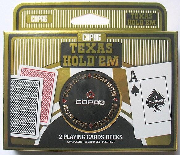 Set carti joc Texas Hold`em + buton dealer