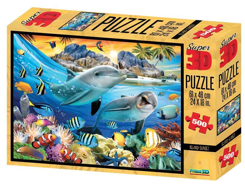 Puzzle 3D Island Sunset 500 piese